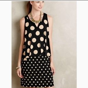 Anthropologie 🌿 XS Maeve polka dot dress